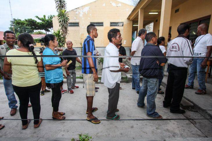 voting in East Timor